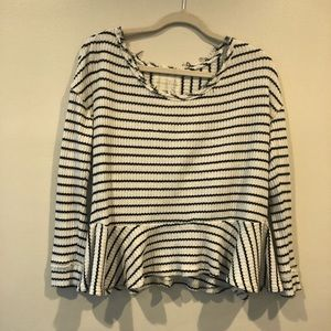 Free People Striped Peplum Thermal